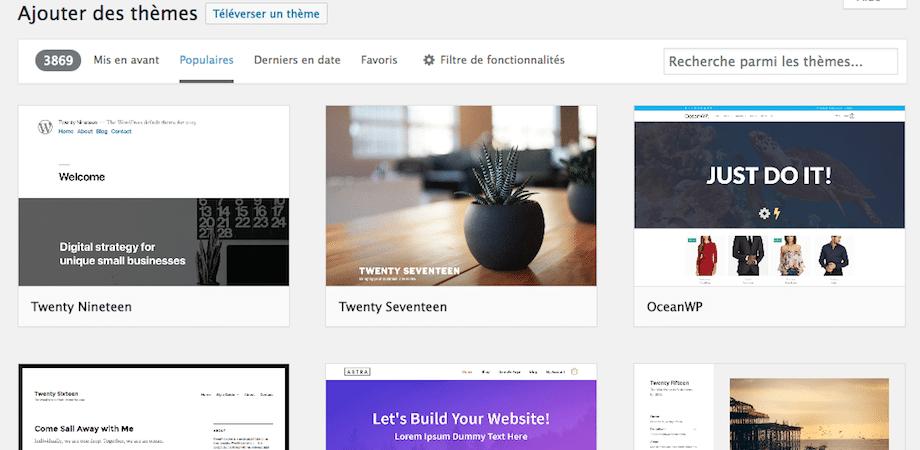 thèmes gratuit wordpress