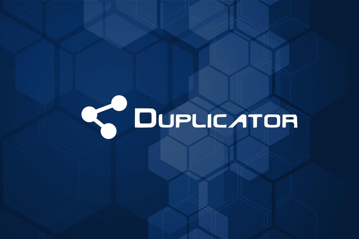 Duplicator pour WordPress