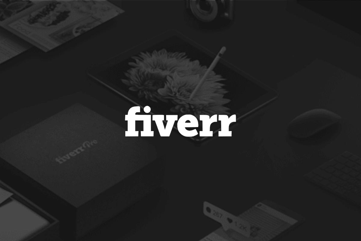 Fiverr logo et fond