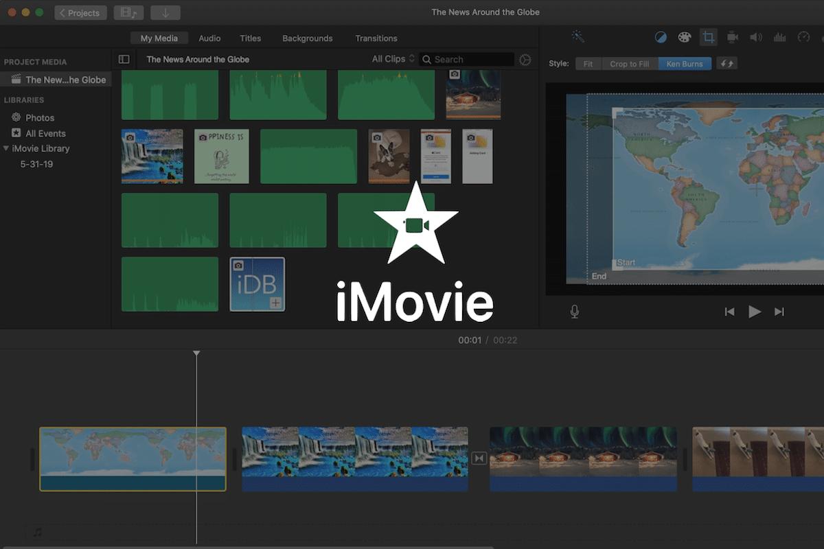 Montage vidéo avec iMovie