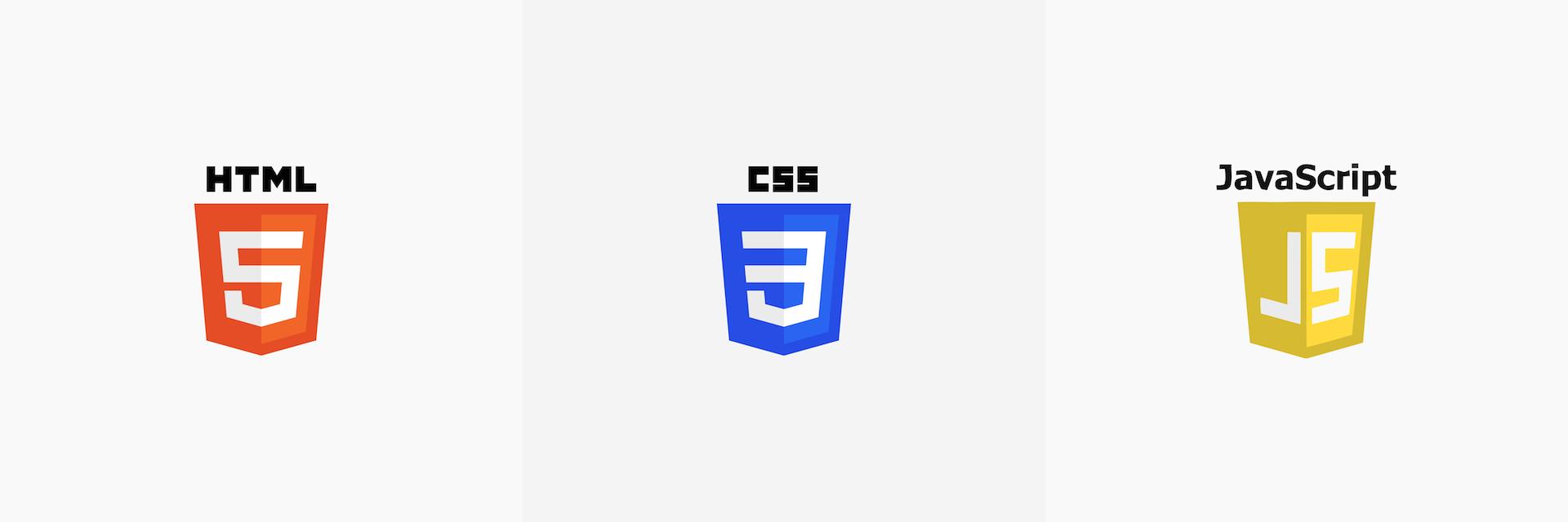 Les principaux langages de programmation pour créer un site internet. HTML5, CSS3, JavaScript.