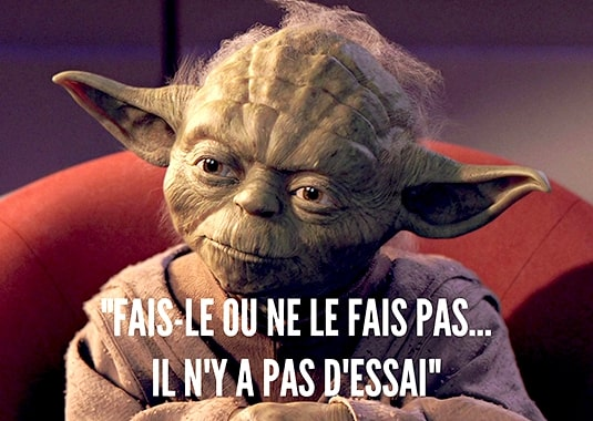 Citation de Yoda Stars Wars